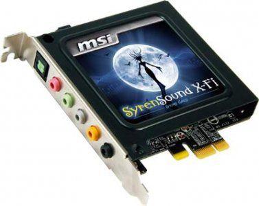 MSI SyrenSound X-Fi audio card