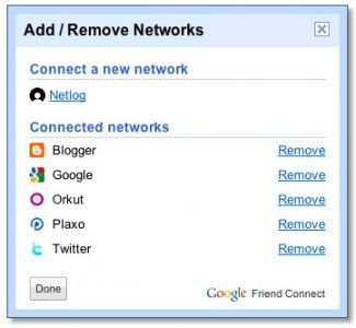 Netlog integrates with Google Friend Connect