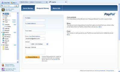 Paypal Application for Yahoo Mail
