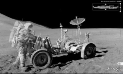 Apollo 15 Astronaut and Rover