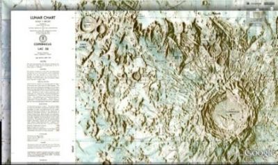 Topographical Maps - Lunar Chart detail