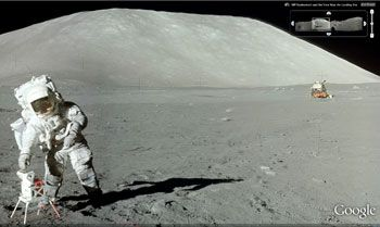 Moon in Google Earth